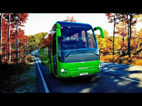 REAL LIFE Graphics ! ! ! Fernbus Simulator - MAN Lion's Coach ! ! ! GAMEPLAY ! ! !