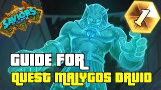 KUN AND EMPEROR THAURISSAN IS OP | GUIDE FOR QUEST MALYGOS DRUID | SAVIORS OF ULDUM | HEARTHSTONE