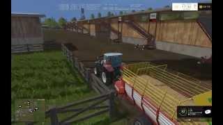 [ FS 15 ]  Как собрать солому с поля с помощью курсплея Видео урок 2