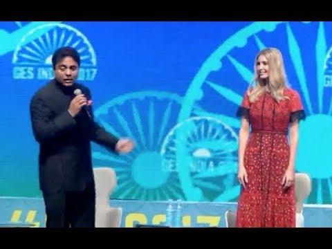 IT Means IVANKA TRUMP Says Telangana IT Minister KTR...India..Global Entrepreneurship Summit