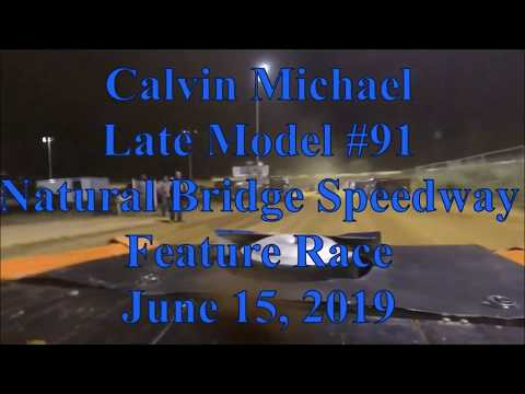 Calvin Michael feature race at Natural Bridge Speedway - 6/15/19