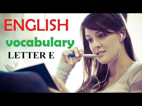 English vocabulary: Hello Channel E