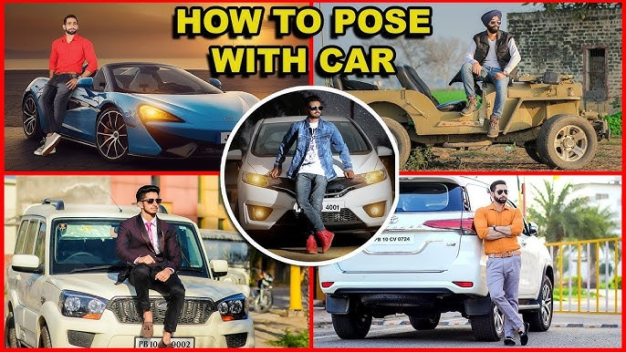 How To Pose With Car Best Boys Pose With Car Car Photoshoot Pose Jimmy Creation Photography Youtube