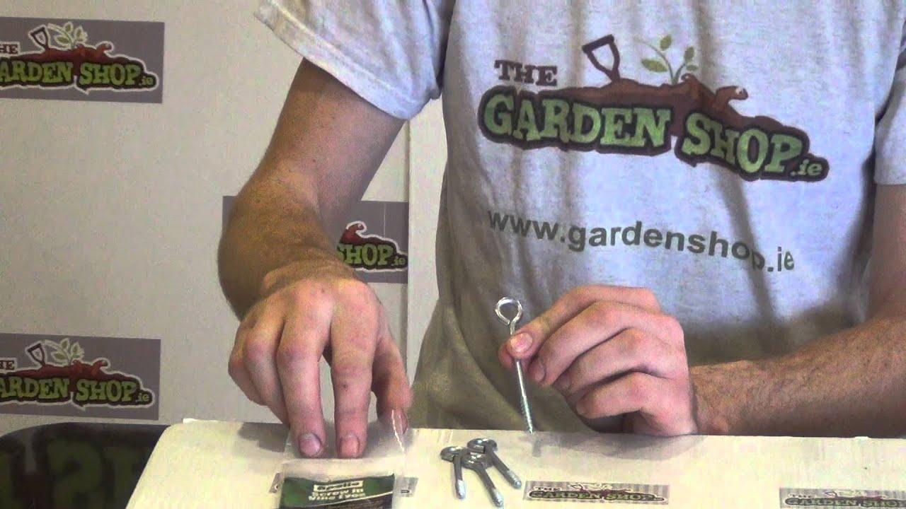 50x SMALL 19mm STEEL SCREW EYE HOOKS Vine Picture Frame Garden Fixing Eyelet