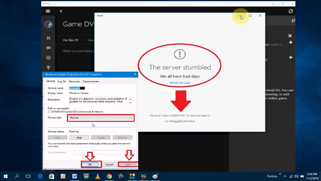 How to Fix Windows Store Error the Server Stumbled 0X80072EE7 - YouTube