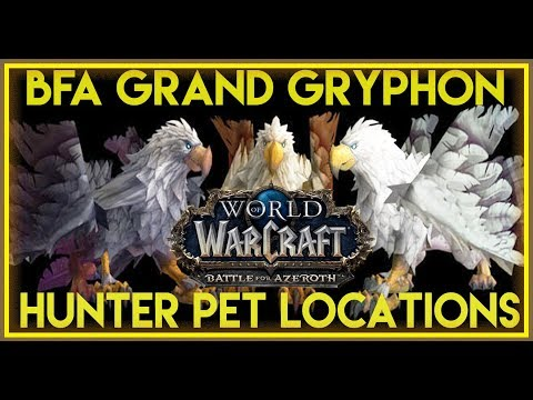 BFA - Grand Gryphon/Feathermane Hunter Pet Locations