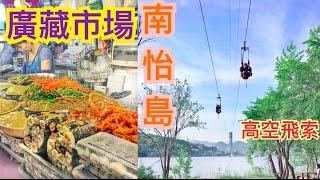 帶你去南怡島玩高空飛索 東大門led花 廣藏市場 korea vlog day 4
