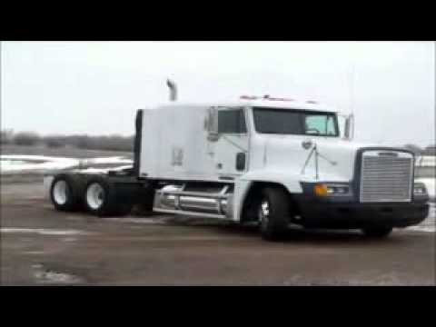 Freightliner For Sale >> 1995 Freightliner FLD120 semi truck for sale | sold at auction February 19, 2013 - YouTube