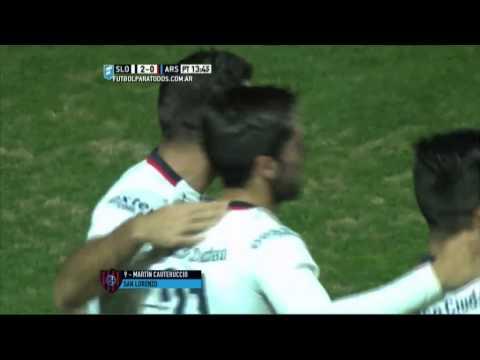 San Lorenzo goleó a Arsenal y recuperó la punta