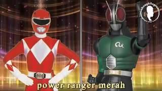 Kamen Rider vs Power ranger lucu dub Banjar (sub indo)