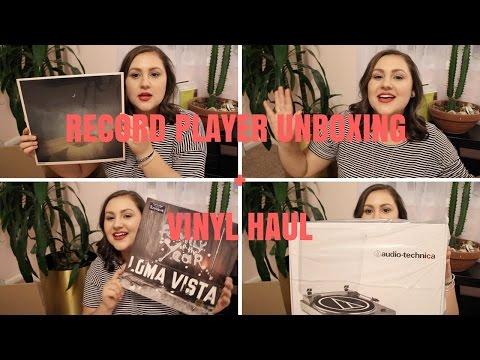 RECORD PLAYER UNBOXING + VINYL HAUL   J.D. Style