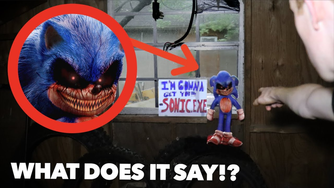 SONIC.EXE LEFT ME A NOTE IN REAL LIFE! *What Does It Say!?*