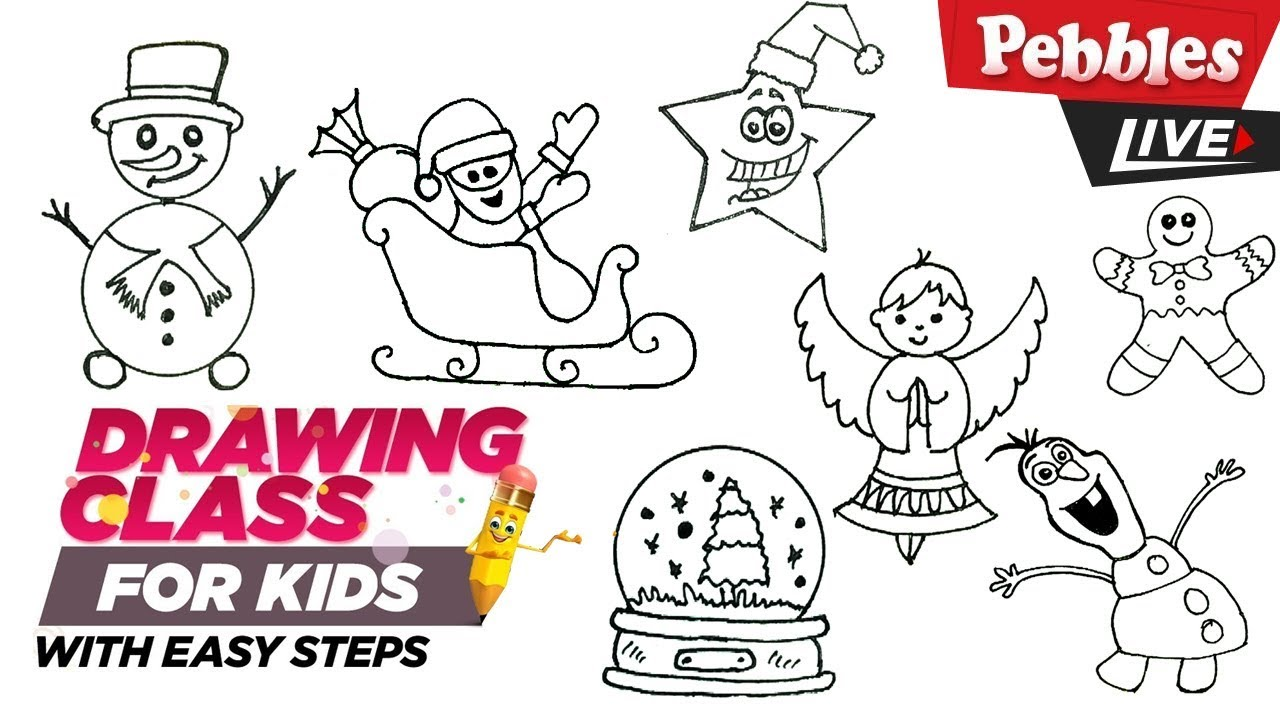 christmas drawing ideas easy collection 4 step by step drawing for kids christmas drawing for kids youtube christmas drawing ideas easy collection 4 step by step drawing for kids christmas drawing for kids