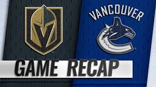 Golden Knights score five in the 1st, beat Canucks
