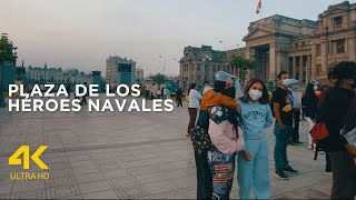 Una plaza peruana donde hay muchos bailarines (4k ultra HD, 60fps)