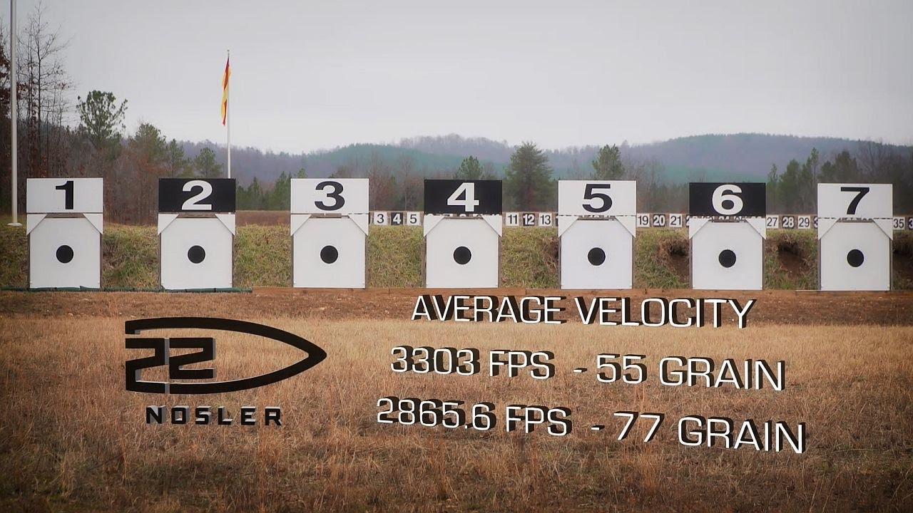 22 Nosler: Ballistics Testing - How much faster than the  223?