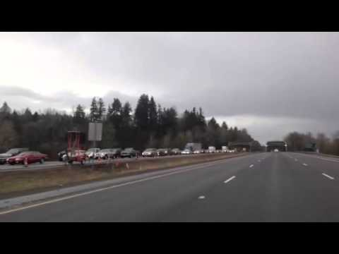 Video of massive traffic jam on I-5
