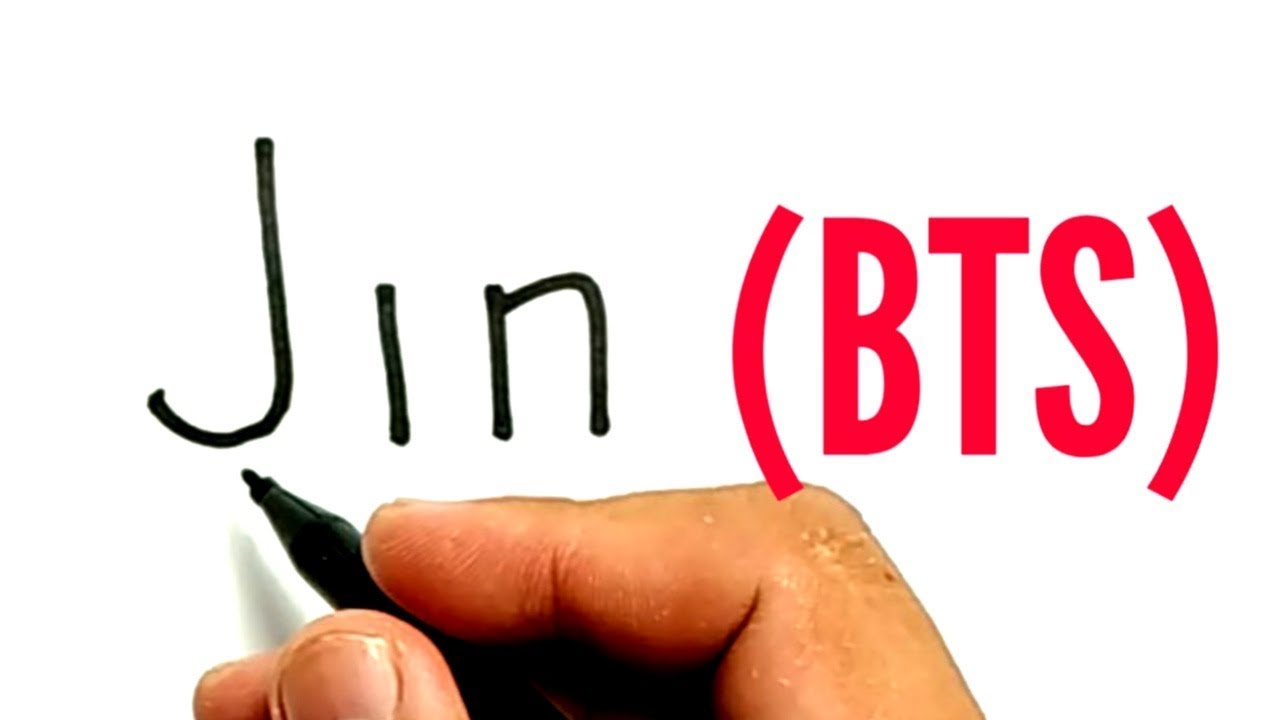 Very Easy How To Turn Words Jin Into Jin Bts Bangtan Boys