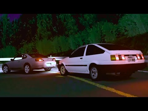 [Assetto Corsa × Initial D]東京から来た二人 VS 池谷浩一郎 & 藤原拓海 @秋名 (Eng Sub/中字)