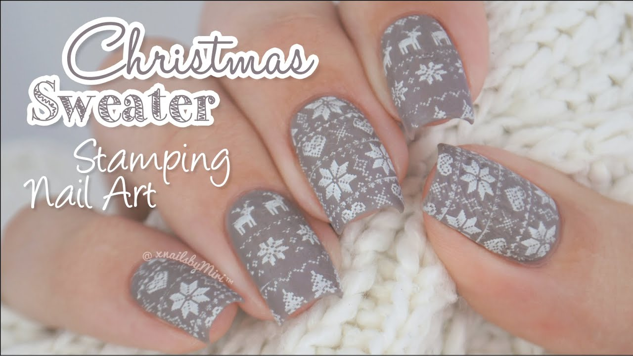 Christmas Sweater Nail Art || using stamping plate "|1280|720|?|en|2|e8ee4736b2443c6a4b49ccea50231dbc|False|UNLIKELY|0.34671106934547424