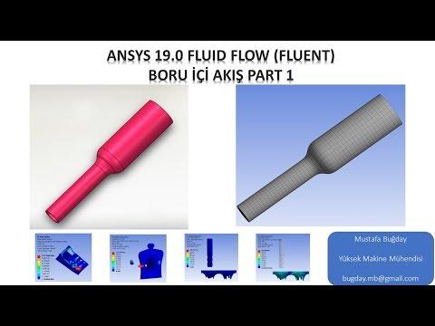 Ansys 19.0 Fluid Flow (Fluent) Boru İçi Akış Part 1