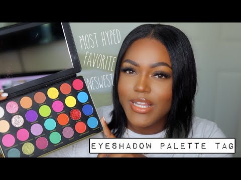 All About My Eyeshadow Palettes - Eyeshadow Palette Tag - 동영상