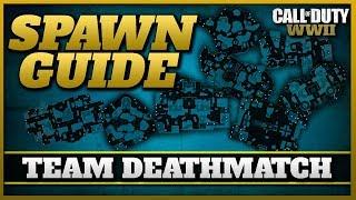 How Spawns work in Team Deathmatch!   (CoD WW2 TDM Spawn Guide)