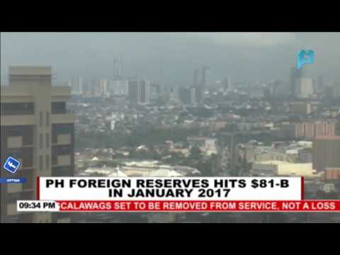 PH foreign reserves hits $81-B in January 2017