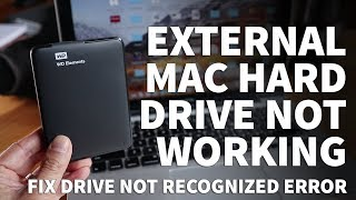 MacBook External Hard Drive Not Recognized - How to Reformat Western Digital Hard Drive for Mac