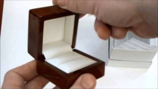 Unboxing New Luxury Jewellery Ring Box Leather & Wooden Dark Wood Box