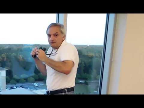 Curt at work using binoculars