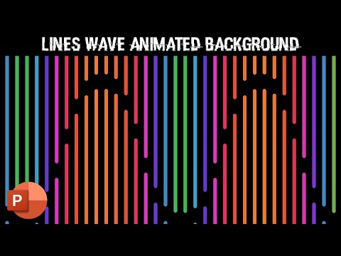 Lines Wave Pattern | Motion Backgrounds | PowerPoint 2016 Tutorials