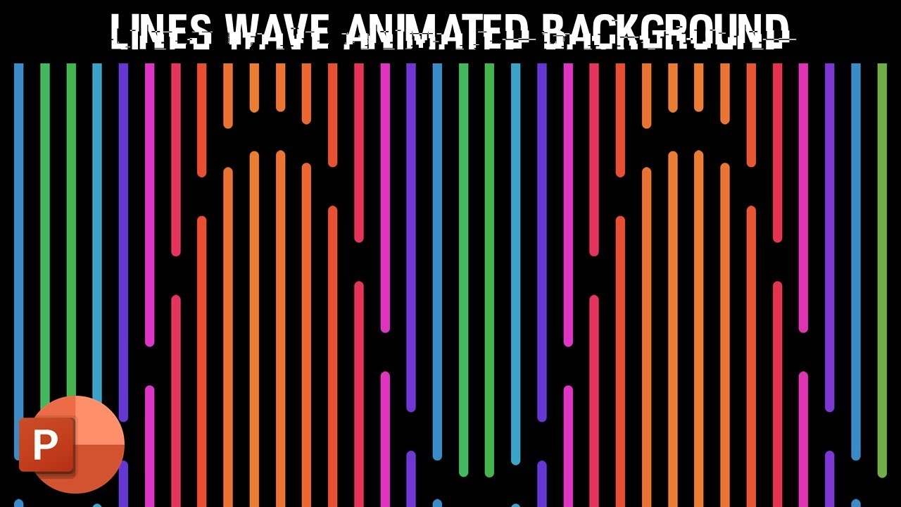 Lines Wave Pattern | Motion Backgrounds in PowerPoint 2016 Tutorial
