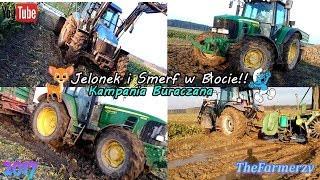 Jekonek & Smerfy w Błocie!! Kampania Buraczana 2017 1xJD 2xNH Stoll V202  TheFarmerzy