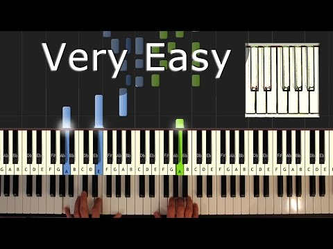 Flea Waltz - Flohwalzer - Piano Tutorial Esay - How to play - Synthesia
