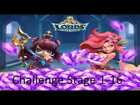 Lords Mobile: Challenge Stage 1-16