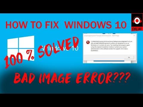 windows 10 bad image erro fix