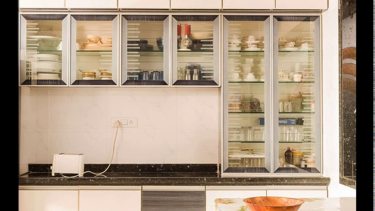 Kitchen crockery cabinet designs - YouTube