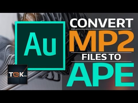 How to Convert MP2 to APE - Adobe Audition CC
