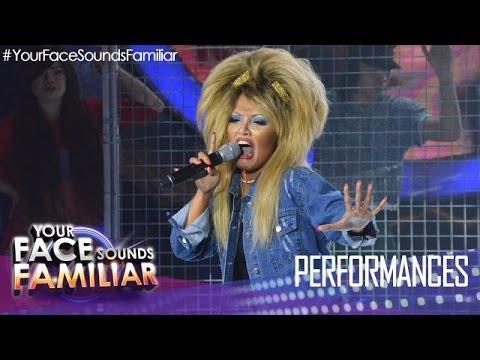 Your Face Sounds Familiar: KZ Tandingan as Tina Turner -