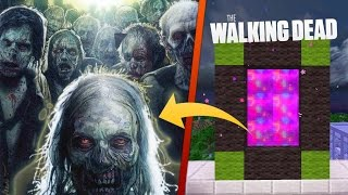 ZOMBIES! 😨☠ PORTAL A THE WALKING DEAD EN MINECRAFT | DIMENSIONES #59