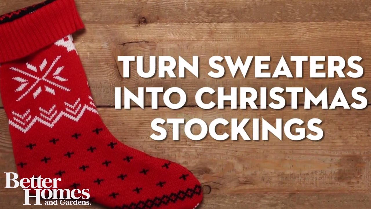 how to turn christmas sweaters into christmas stockings - Sweater Christmas Stockings