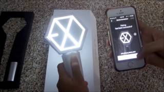 EXO OFFICIAL LIGHTSTICK VER 2.0 [UNBOXING & PAIRING WITH WYTH APP]