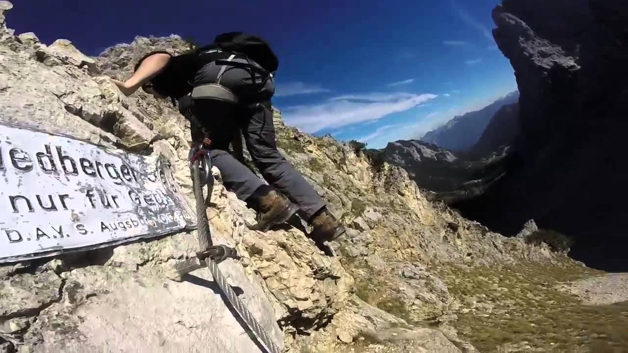 Friedberger Klettersteig : Friedberger klettersteig tannheimer tal  youtube