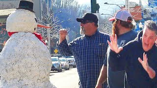 Scary Snowman Goes To Gatlinburg Tennessee - You Laugh You Win