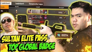 SULTAN FF SEJATI BORONG ELITE PASS TERBARU GAS TOP GLOBAL BADGE 1 - FREE FIRE INDONESIA