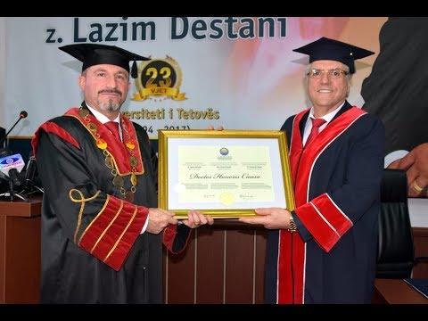 Lazim Destani nderohet me titullin Doctor Honoris Causa nga Universiteti i Tetovës