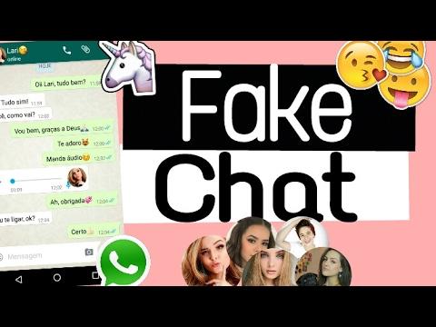 Como Fazer Um FAKE CHAT (whatsapp)