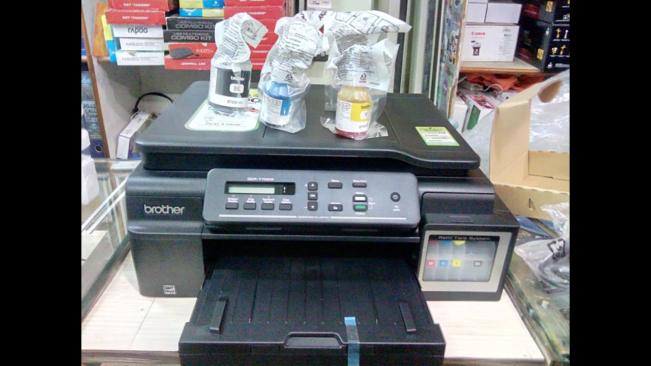 Unboxing Brother DCP T700W Ink Tank Printer Print Scan Copy Wi Fi ADF