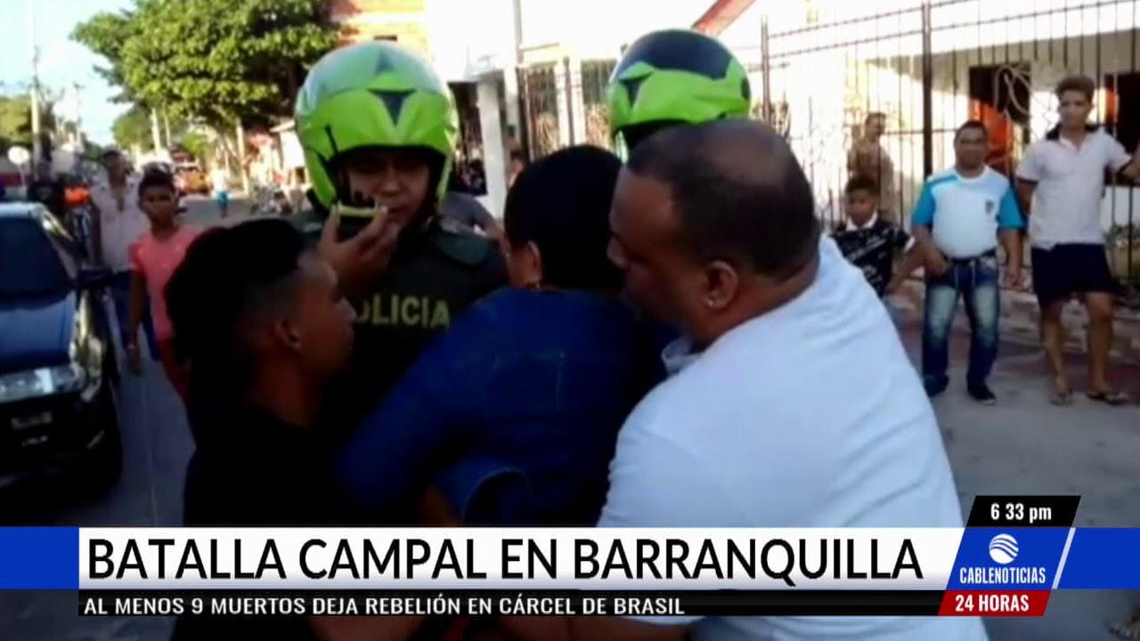 Reunión en un bar terminó en tremenda batalla campal en Barranquilla ... 749e873be2c